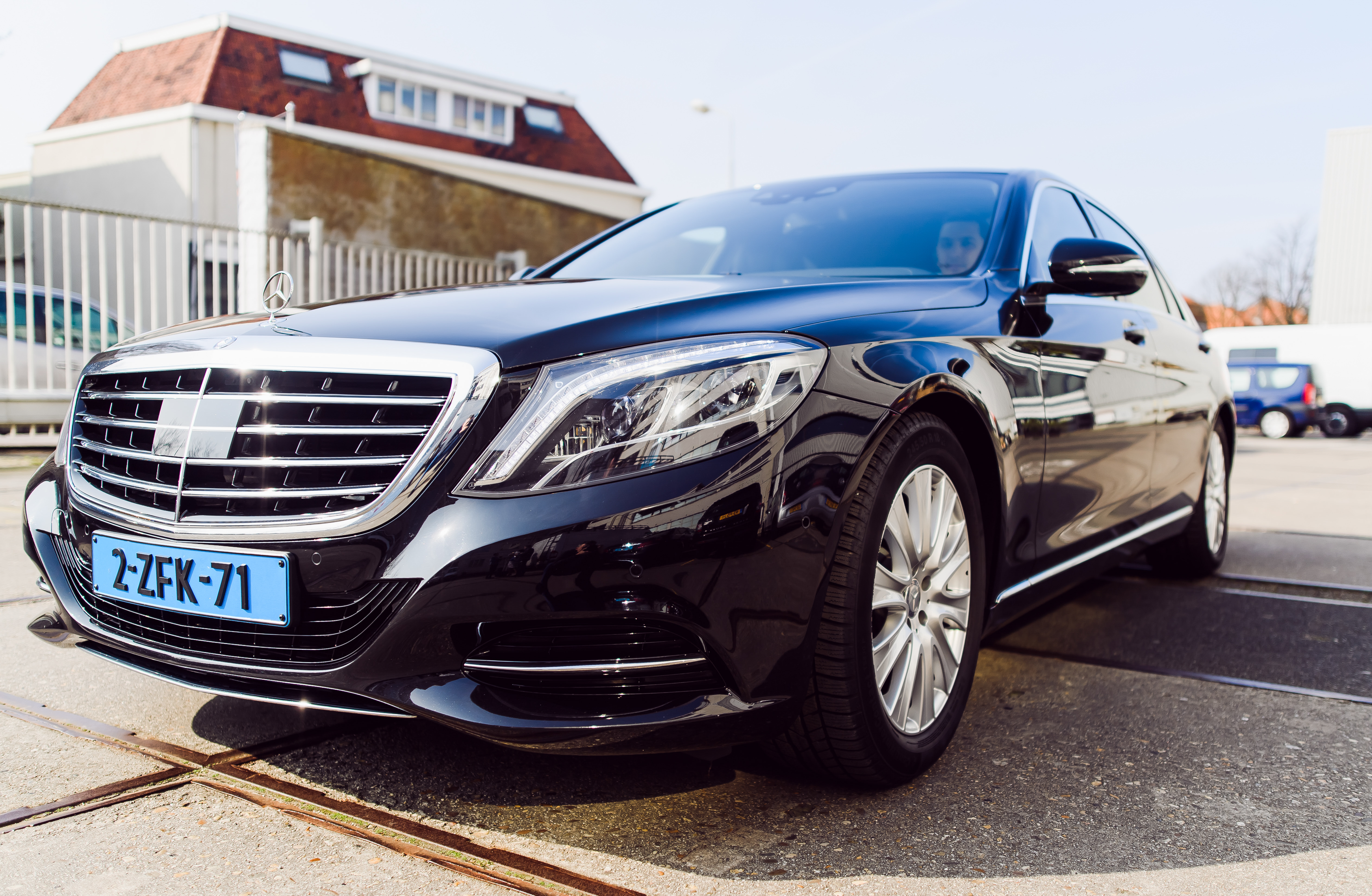 Mercedes s class limousine ready for a private transfer