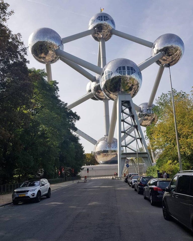 Atomium in Brussel, part of the European tour