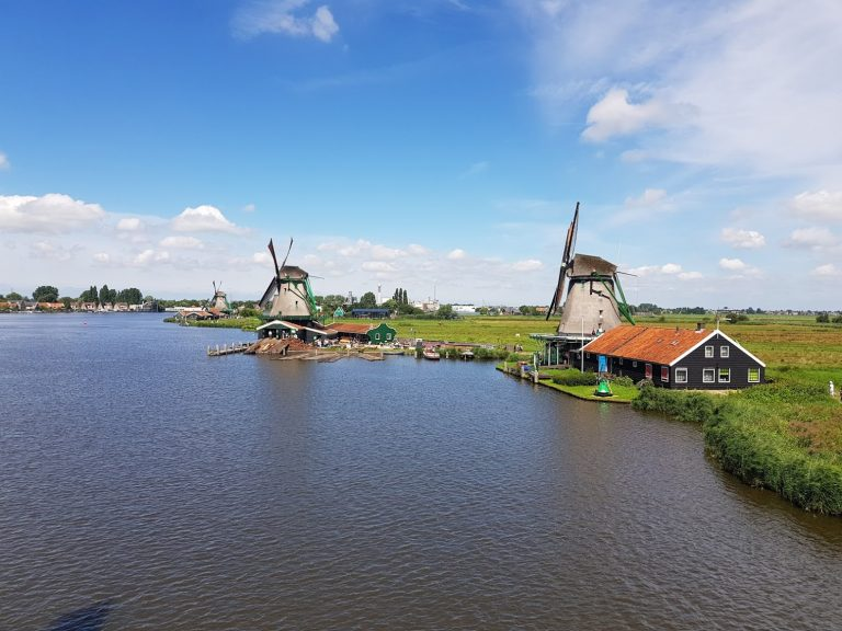 Nice view from a windmill in Zaanse Schans