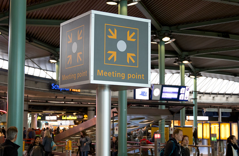 Meeting point Amsterdam Schiphol