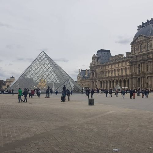 The Louvre in Paris as part of a European tour